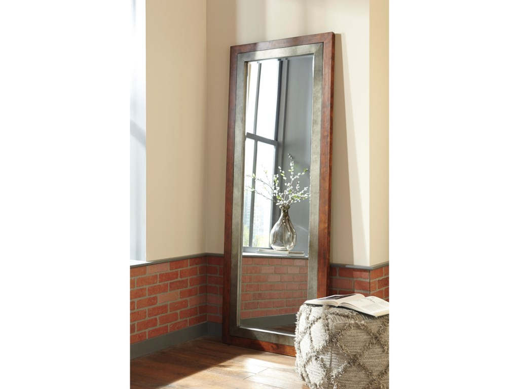 Ashley (Signature Design) Accent MirrorsNiah Brown/Silver Finish Accent Mirror