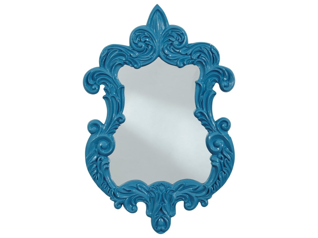 Ashley Signature Design Accent MirrorsDiza Blue Accent Mirror