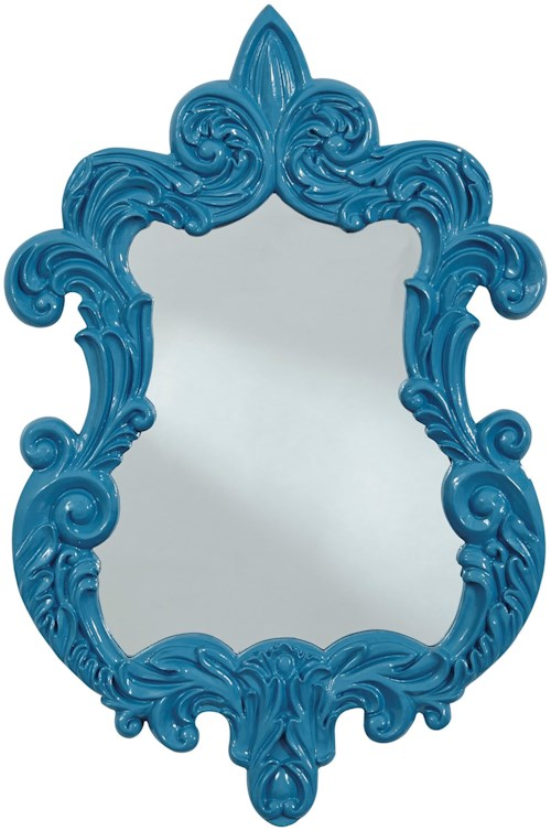 Signature Design by Ashley Accent Mirrors Diza Blue Accent Mirror