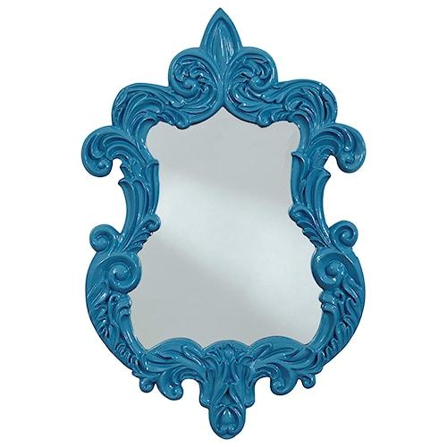 Signature Design by Ashley Accent Mirrors Diza Blue Accent Mirror