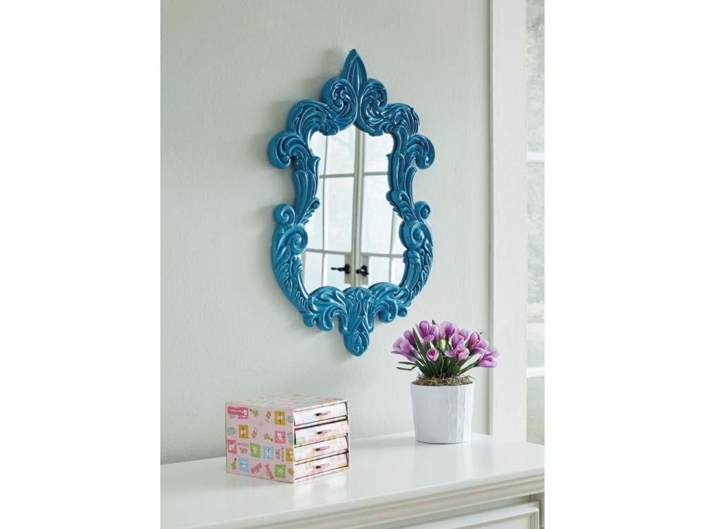 Signature Design by Ashley Accent MirrorsDiza Blue Accent Mirror