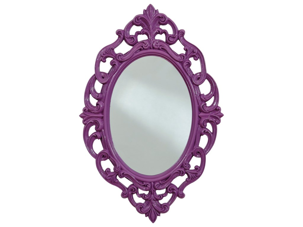 Signature Design by Ashley Accent MirrorsDiza Purple Accent Mirror