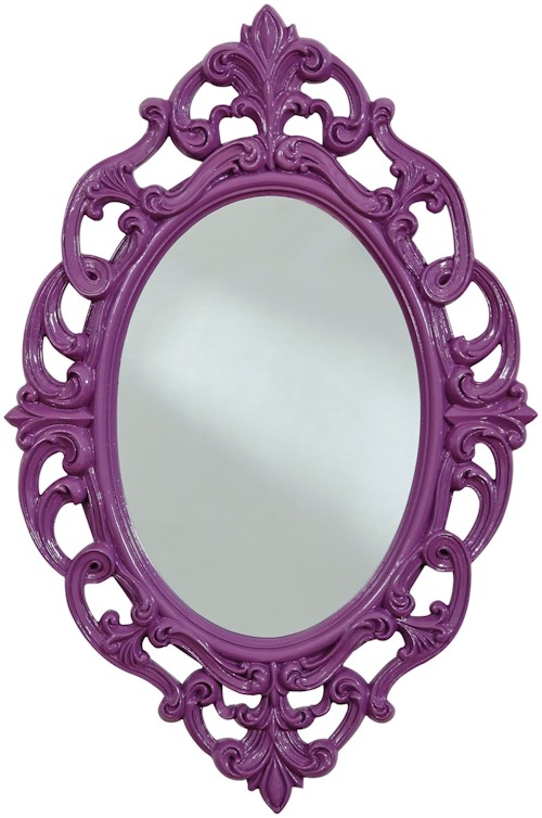 Signature Design by Ashley Accent Mirrors Diza Purple Accent Mirror