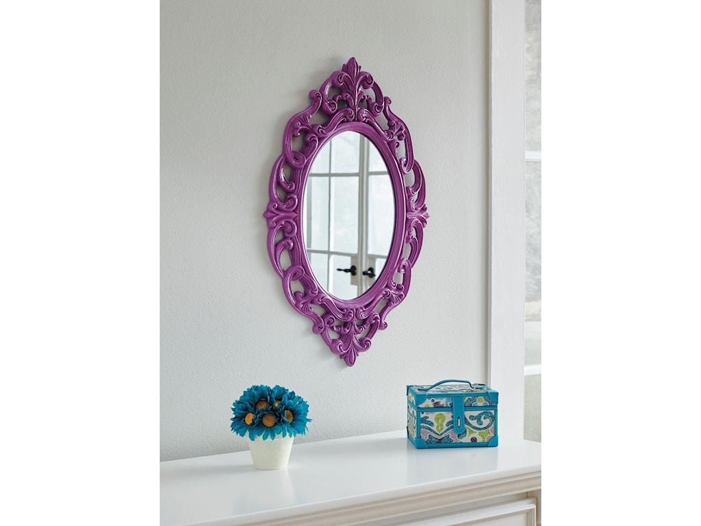 Ashley (Signature Design) Accent MirrorsDiza Purple Accent Mirror