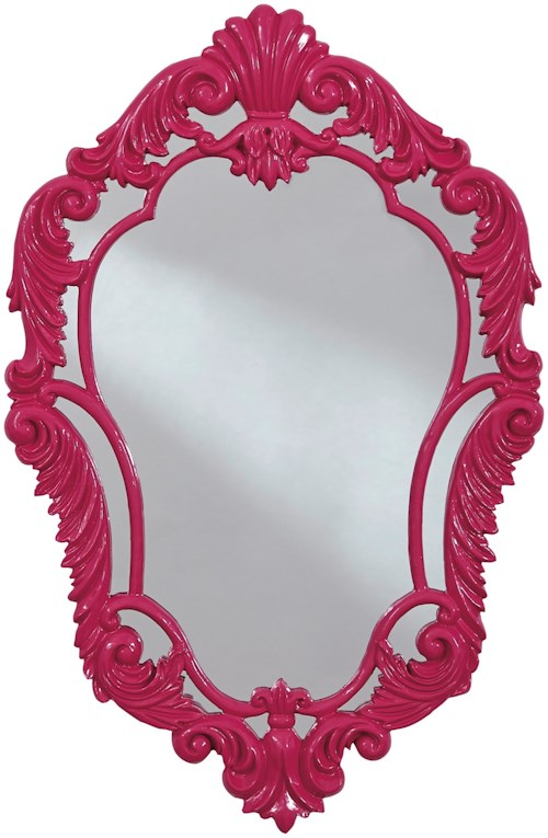 Signature Design by Ashley Accent Mirrors Diza Pink Accent Mirror