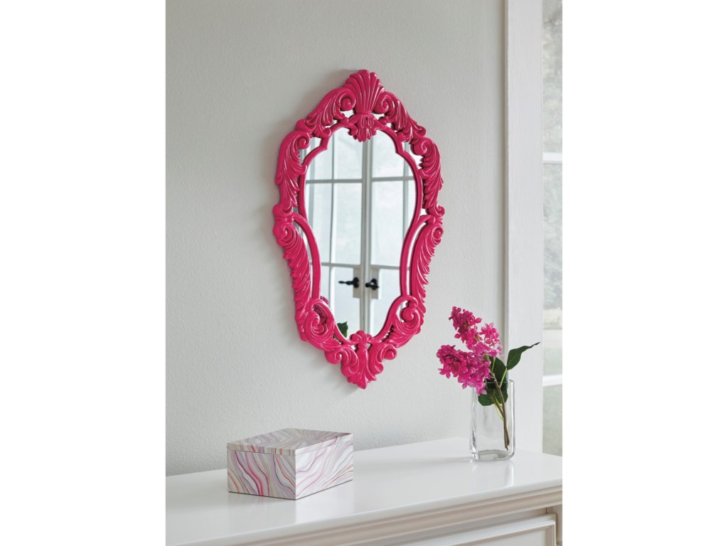 Signature Design by Ashley Accent MirrorsDiza Pink Accent Mirror