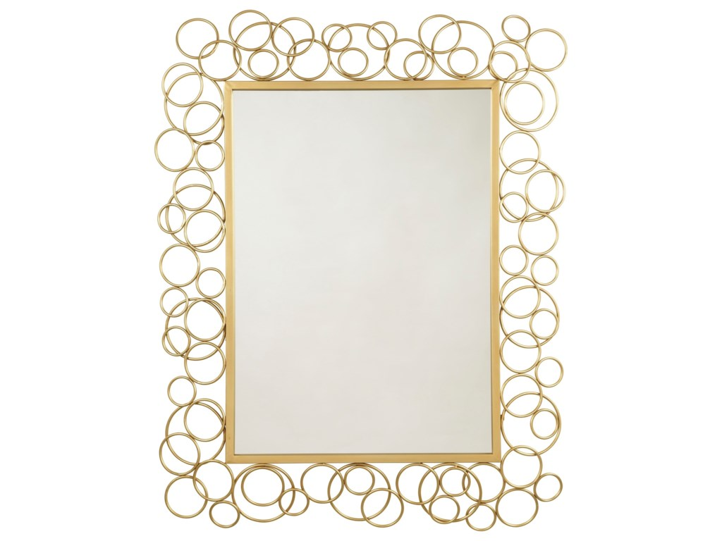 Ashley (Signature Design) Accent MirrorsDhaval Gold Finish Accent Mirror