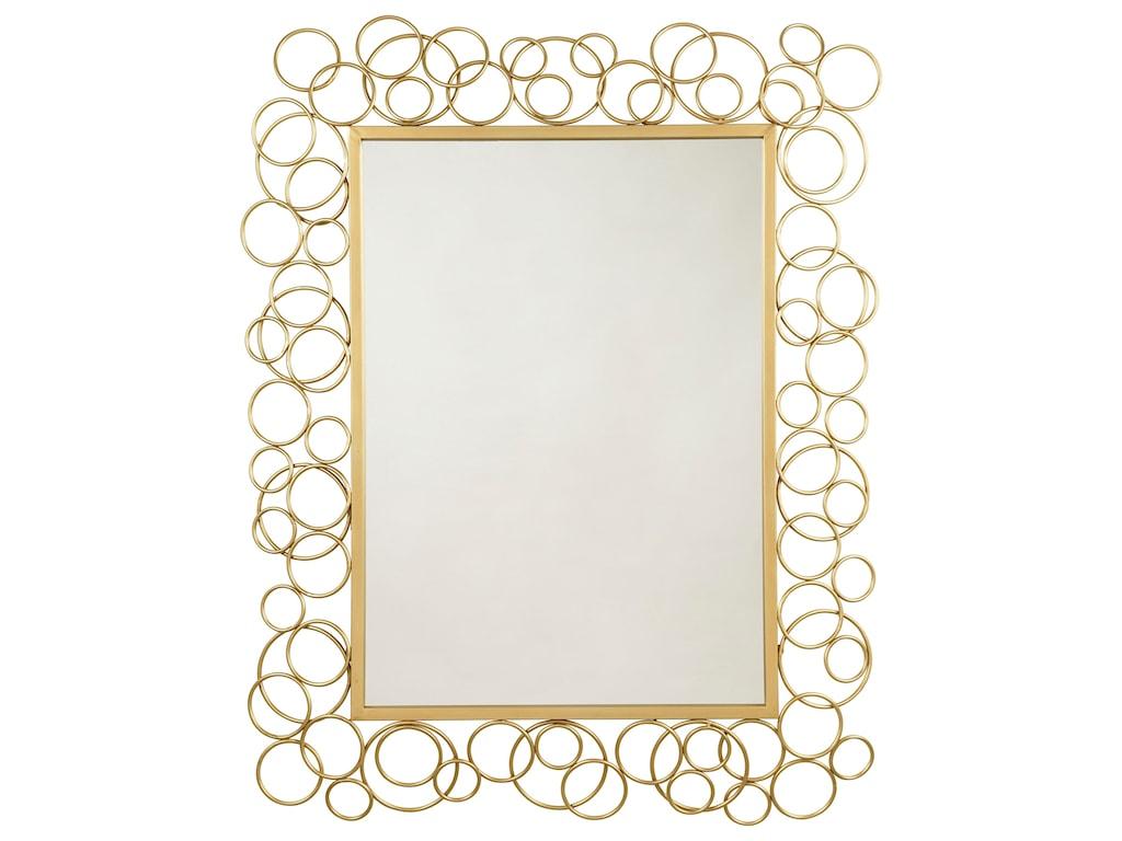 Ashley (Signature Design) Accent MirrorsDhaval Gold Finish Accent Mirror