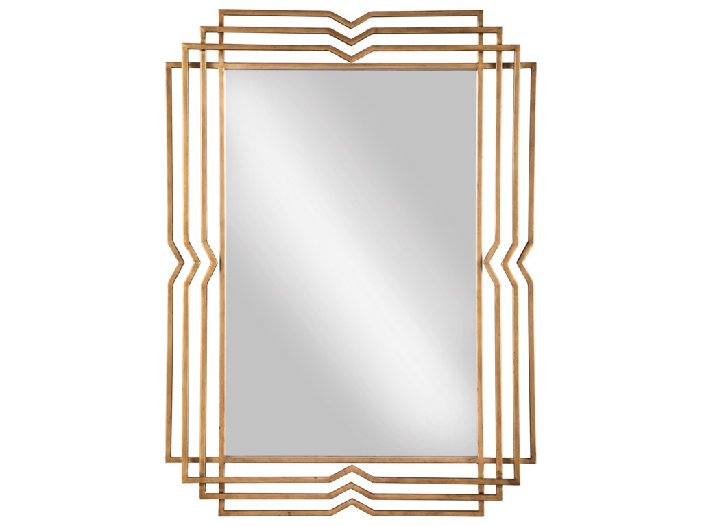Signature Design by Ashley Accent MirrorsTracey Antique Gold Finish Accent Mirror