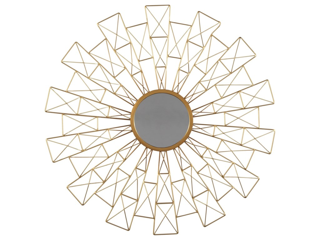 Signature Design by Ashley Accent MirrorsEmberlei Gold Finish Accent Mirror