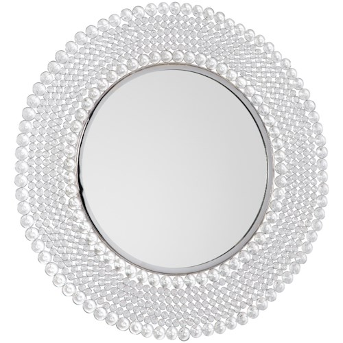 Signature Design by Ashley Accent Mirrors Marly Clear/Silver Finish Accent Mirror