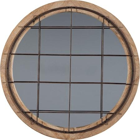 Eland Black/Natural Accent Mirror