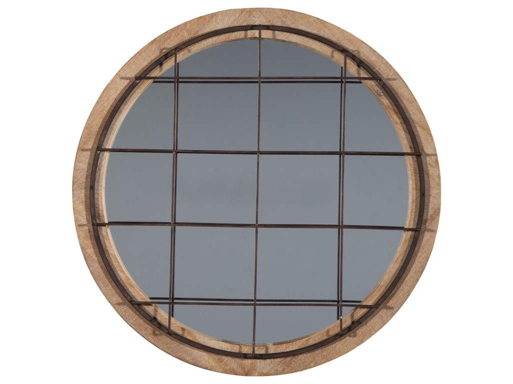 Ashley Signature Design Accent MirrorsEland Black/Natural Accent Mirror