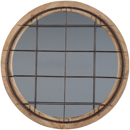 Signature Design by Ashley Accent Mirrors Eland Black/Natural Accent Mirror