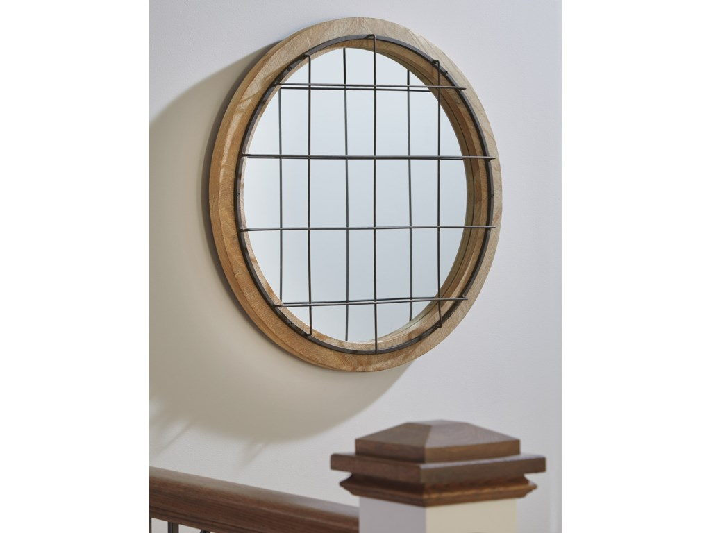 Signature Design by Ashley Accent MirrorsEland Black/Natural Accent Mirror