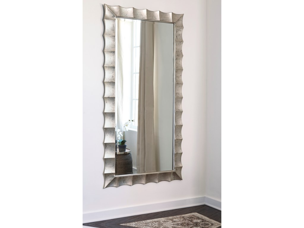 Signature Design by Ashley Accent MirrorsLaasya Antique Silver Finish Accent Mirror