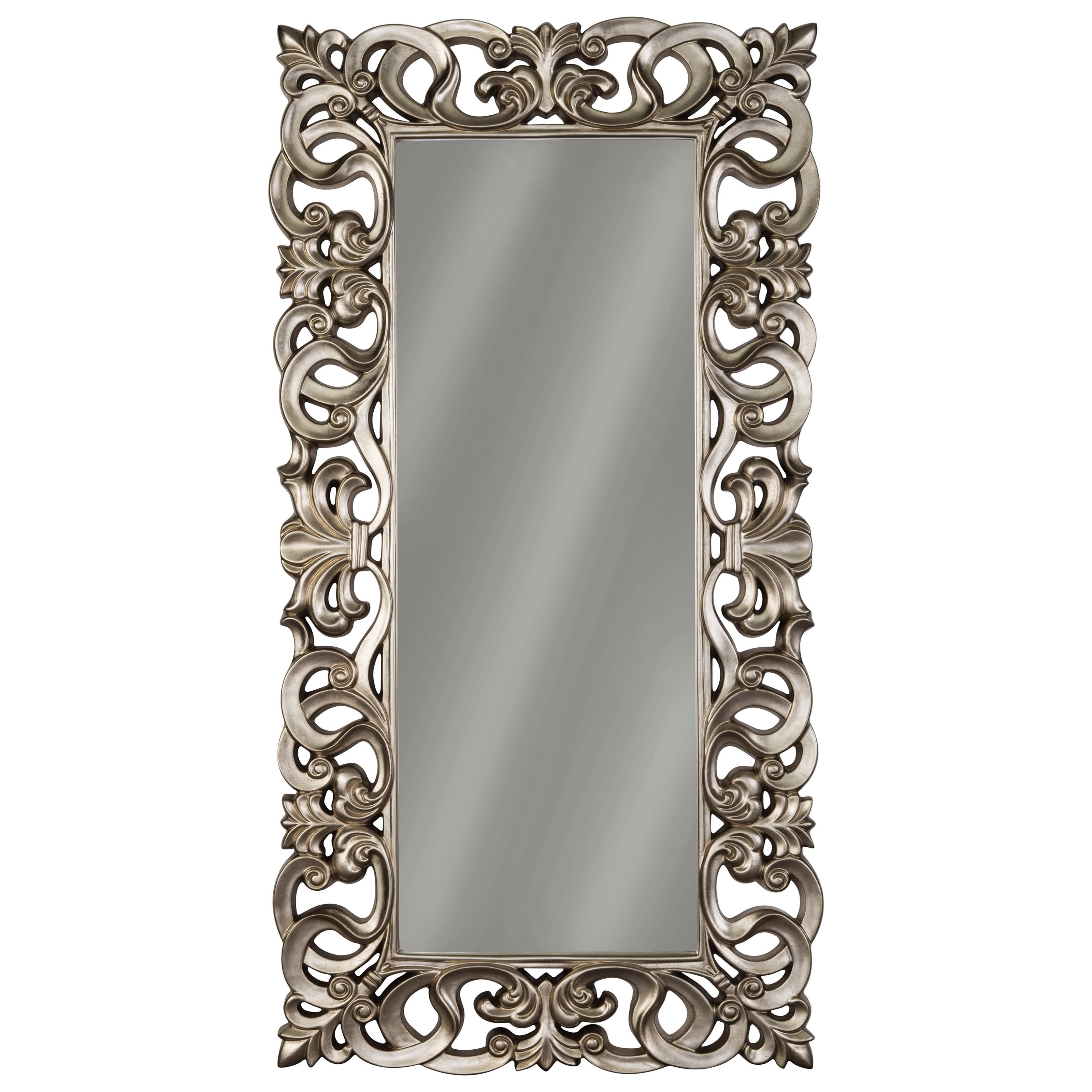 Signature Design By Ashley Accent Mirrors Lucia Antique Silver Finish Accent Mirror Royal Furniture Floor Mirrors