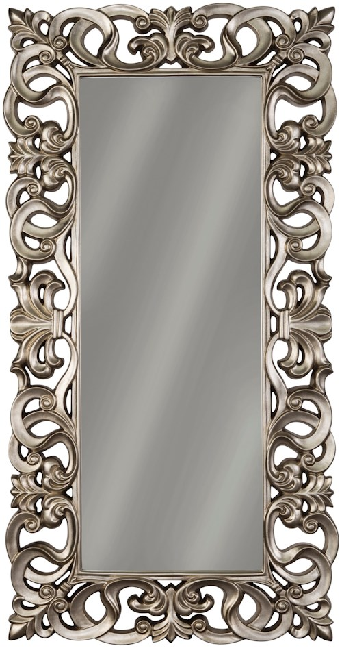 Signature Design by Ashley Accent Mirrors Lucia Antique Silver Finish Accent Mirror