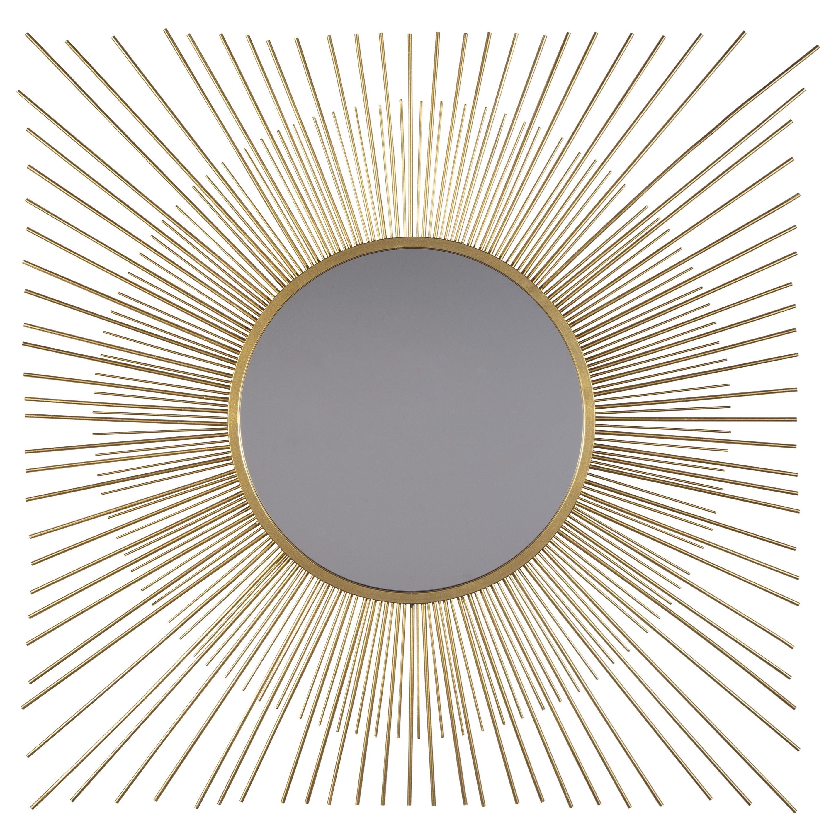 Signature Design By Ashley Accent Mirrors Elspeth Gold Finish Accent Mirror Royal Furniture Wall Mirrors