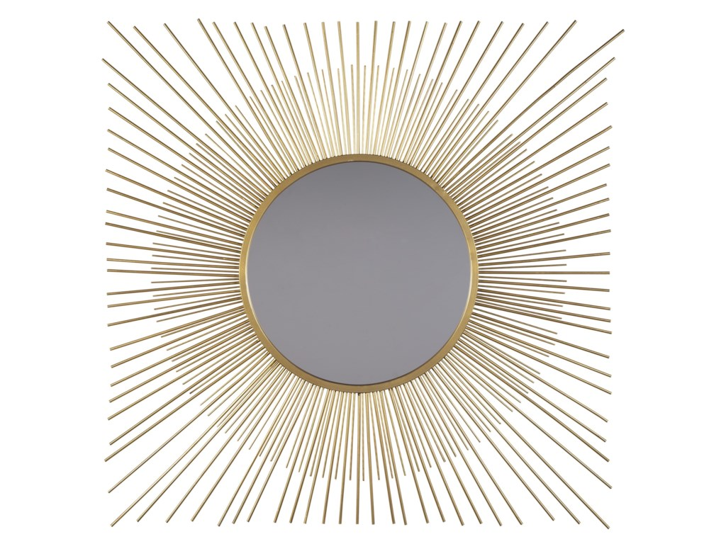 Ashley (Signature Design) Accent MirrorsElspeth Gold Finish Accent Mirror
