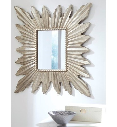 Ashley (Signature Design) Accent MirrorsAntonia Antique Silver Finish Accent Mirror