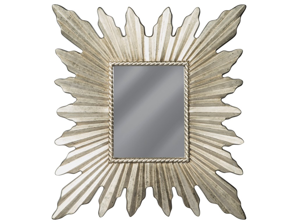 Signature Design by Ashley Accent MirrorsAntonia Antique Silver Finish Accent Mirror