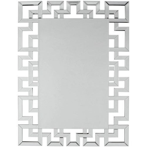 Signature Design by Ashley Accent Mirrors Jasna Greek Key Accent Mirror