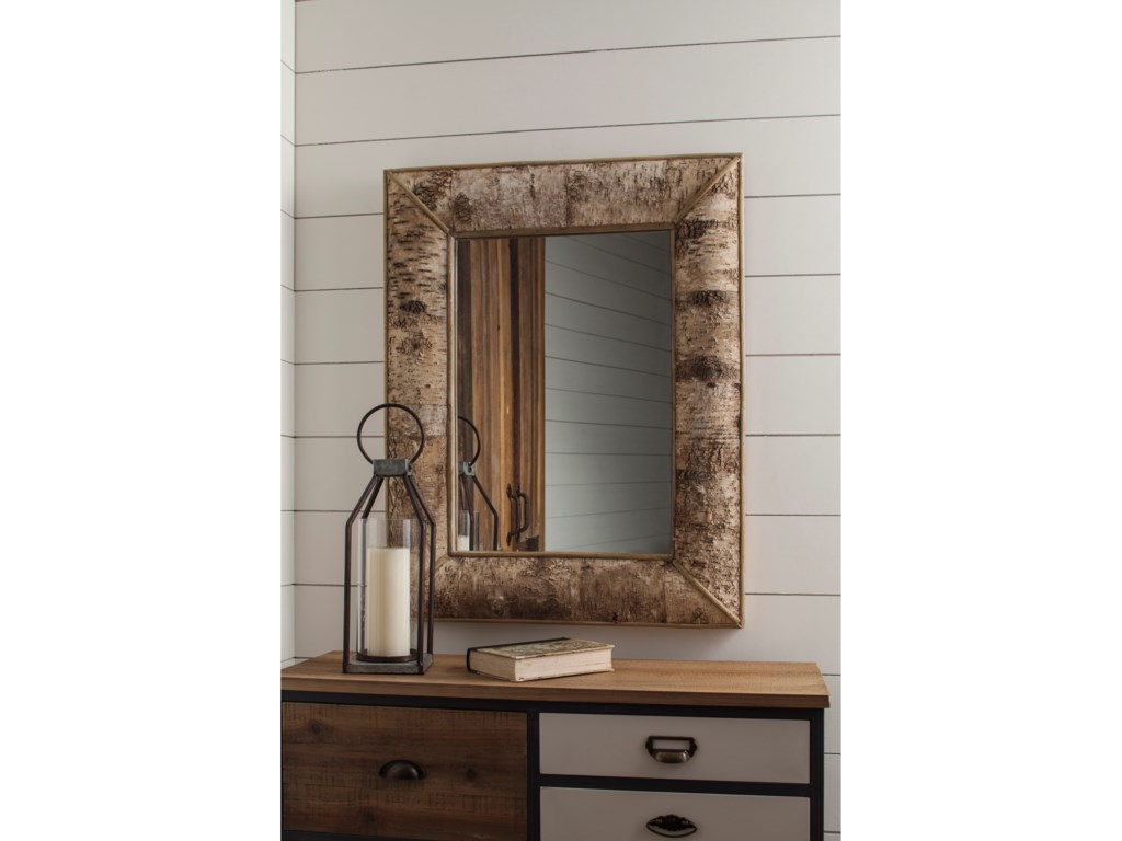 Signature Design by Ashley Accent MirrorsJosefa Brown Accent Mirror