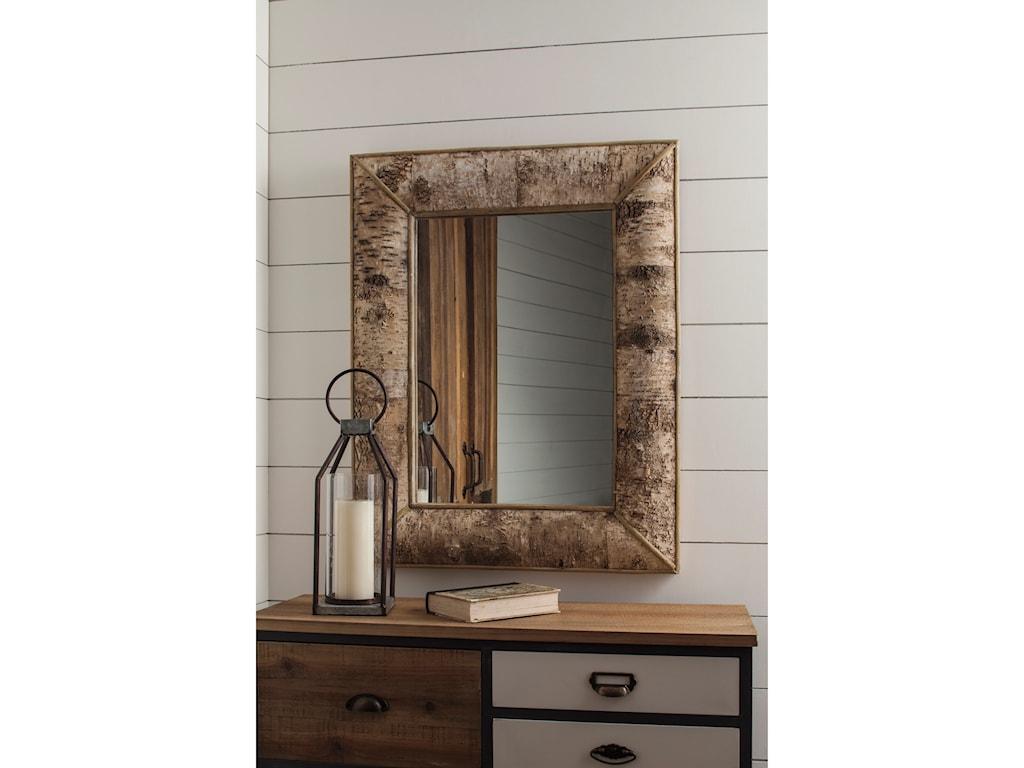 Ashley (Signature Design) Accent MirrorsJosefa Brown Accent Mirror