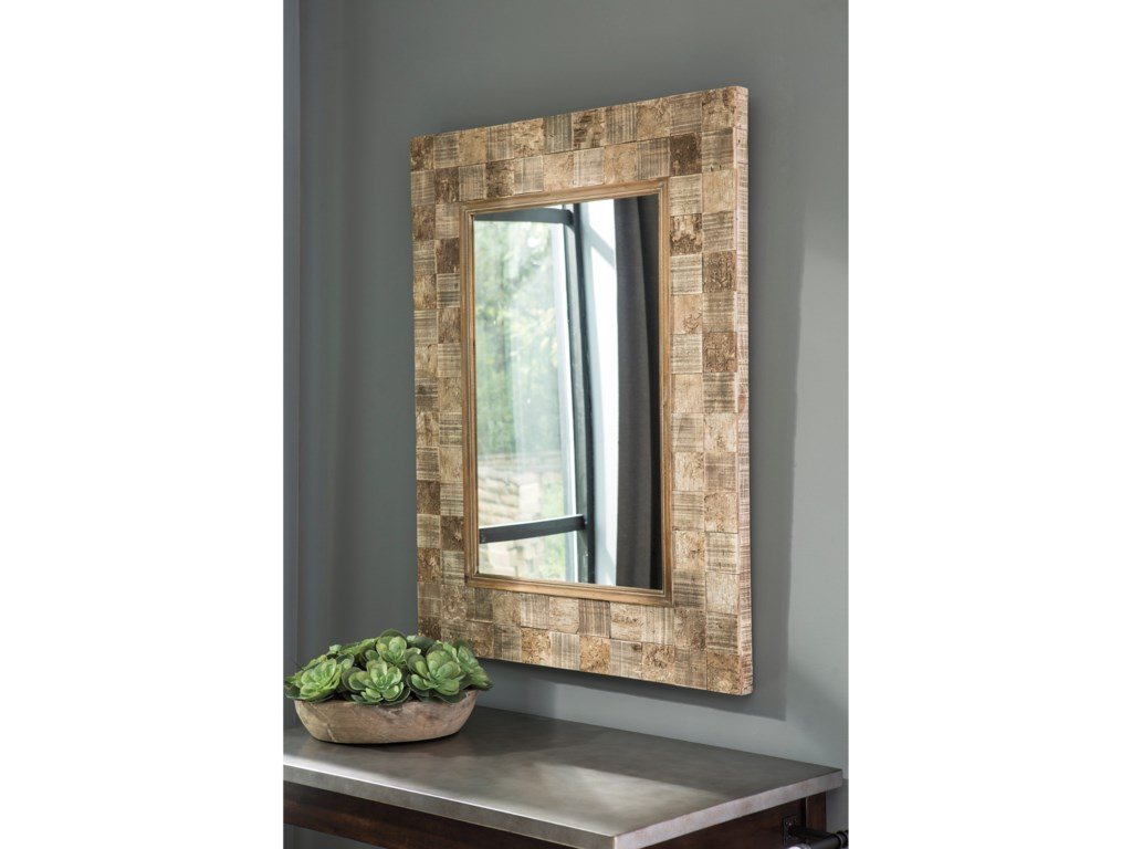 Trendz Accent MirrorsIvanna Brown Accent Mirror