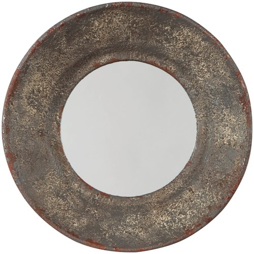 Signature Design by Ashley Accent Mirrors Carine Distressed Gray Accent Mirror