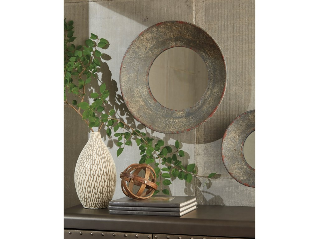 Trendz Accent MirrorsCarine Distressed Gray Accent Mirror