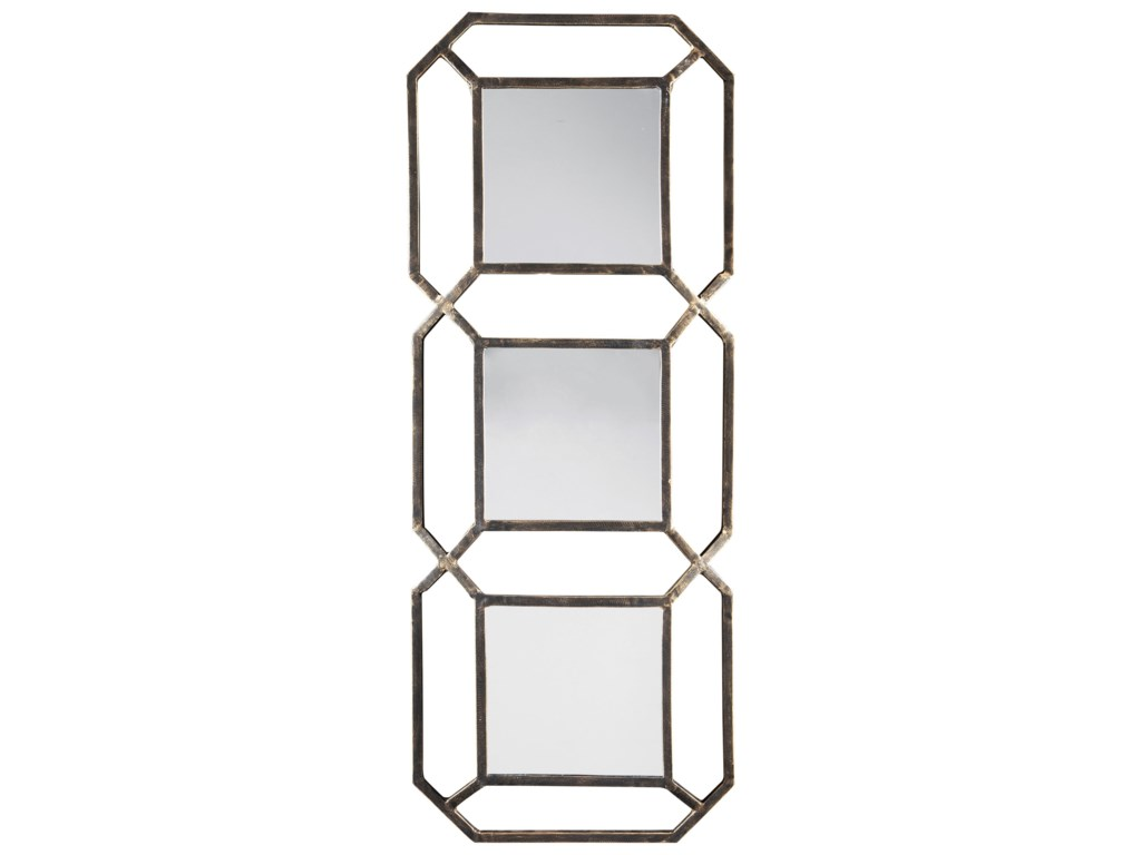 Signature Design Accent MirrorsSavane Antique Gold Finish Accent Mirror