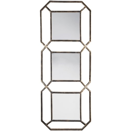 Signature Design by Ashley Accent Mirrors Savane Antique Gold Finish Accent Mirror