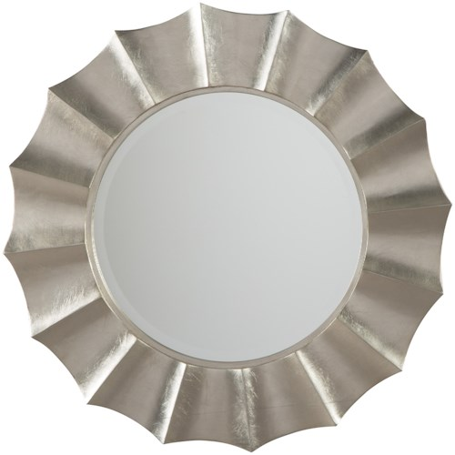 Signature Design by Ashley Accent Mirrors Elsley Silver Finish Accent Mirror