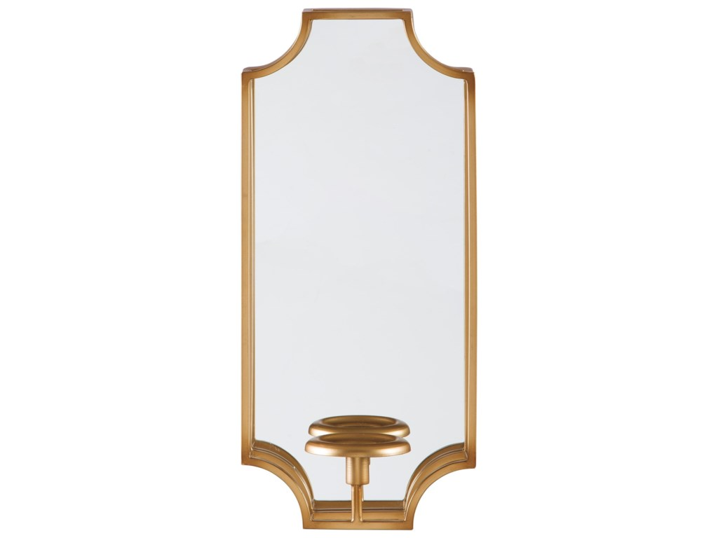 Signature Design by Ashley Accent MirrorsDumi Gold Finish Wall Sconce
