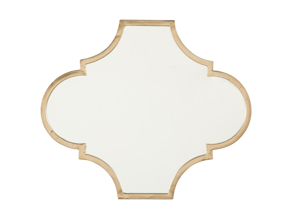 Signature Design by Ashley Accent MirrorsCallie Gold Finish Accent Mirror