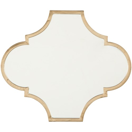 Signature Design by Ashley Accent Mirrors Callie Gold Finish Accent Mirror