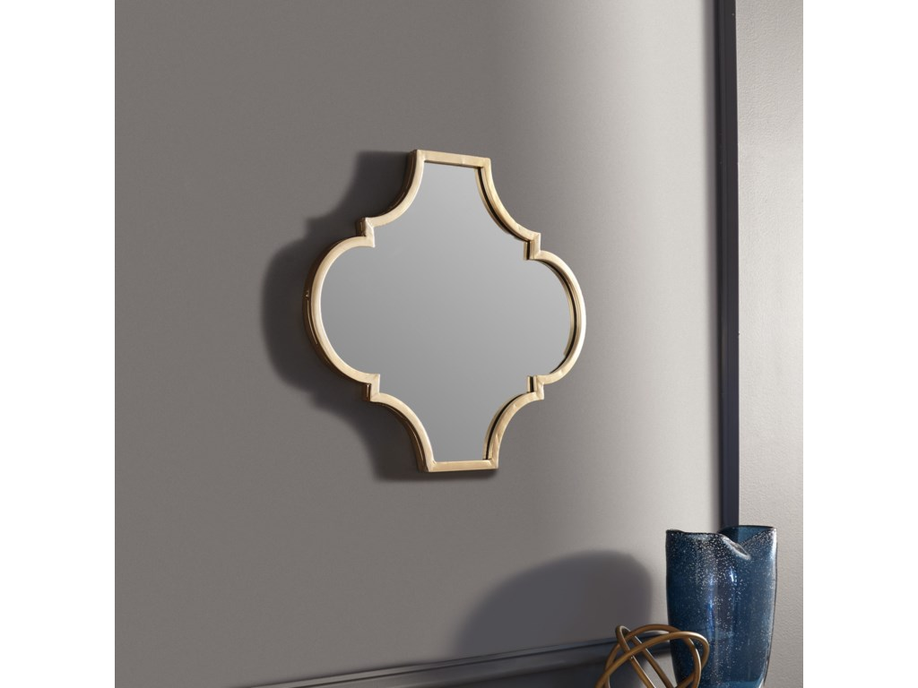 Ashley Signature Design Accent MirrorsCallie Gold Finish Accent Mirror