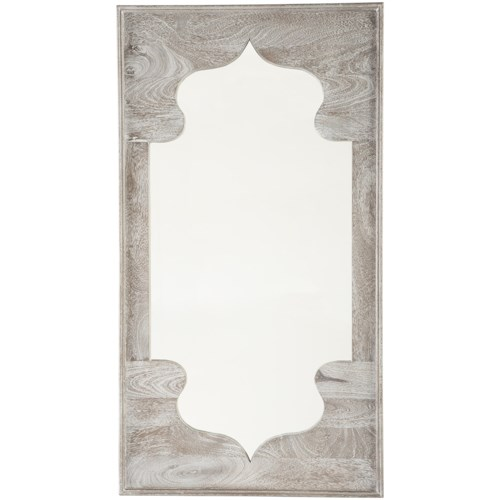Signature Design by Ashley Accent Mirrors Bautista Antique Gray Accent Mirror
