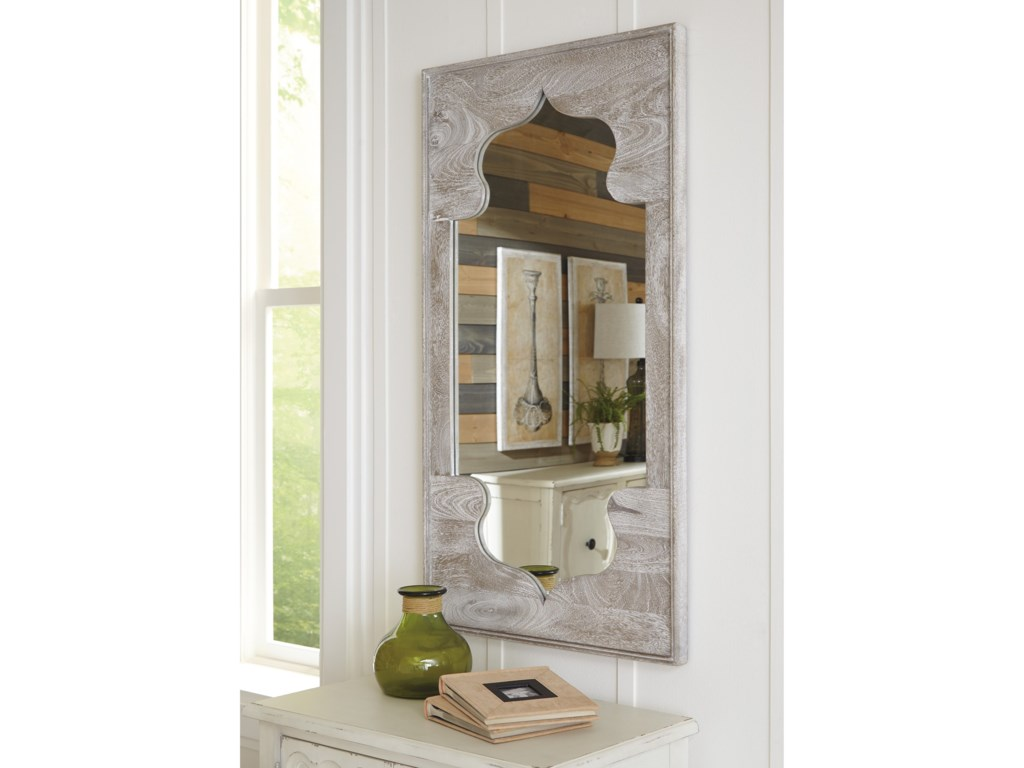 Signature Design by Ashley Accent MirrorsBautista Antique Gray Accent Mirror