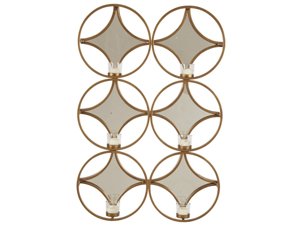 Ashley (Signature Design) Accent MirrorsEmilia Gold Finish Wall Sconce