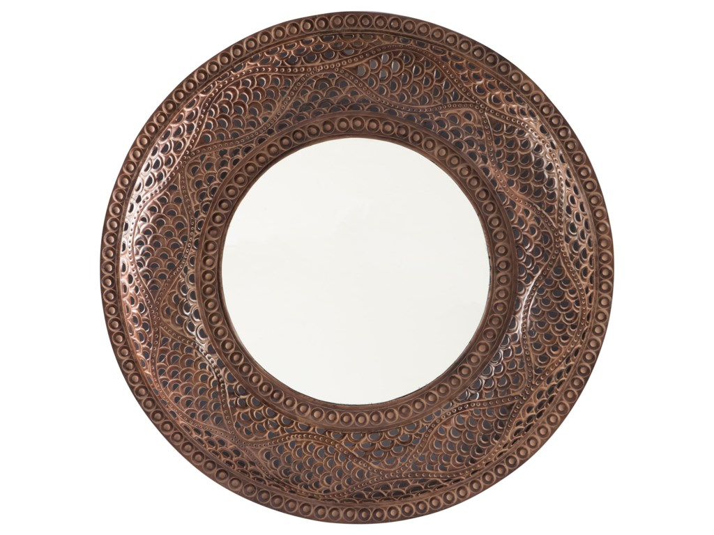 Signature Design by Ashley Accent MirrorsElikapeka Antique Brown Accent Mirror