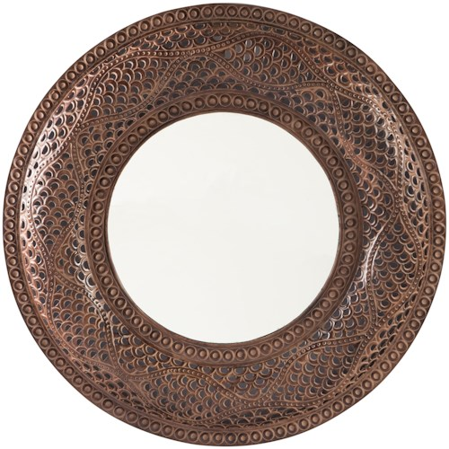 Signature Design by Ashley Accent Mirrors Elikapeka Antique Brown Accent Mirror