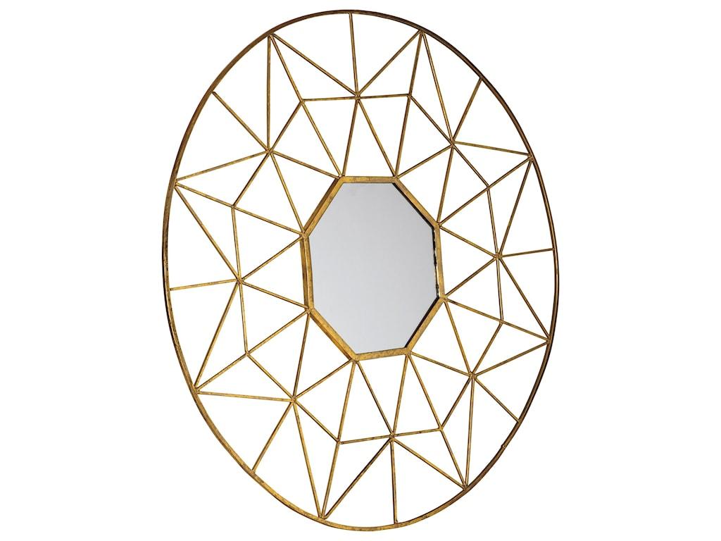 Ashley Signature Design Accent MirrorsBulana Gold Finish Accent Mirror