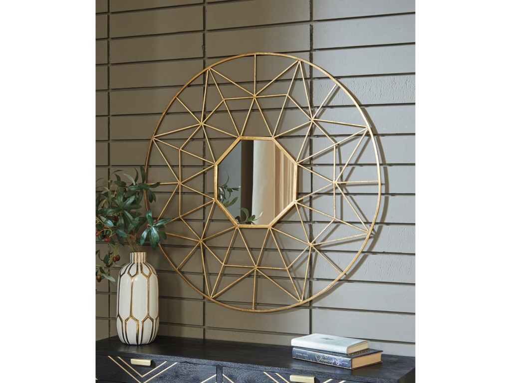 Signature Design by Ashley Accent MirrorsBulana Gold Finish Accent Mirror