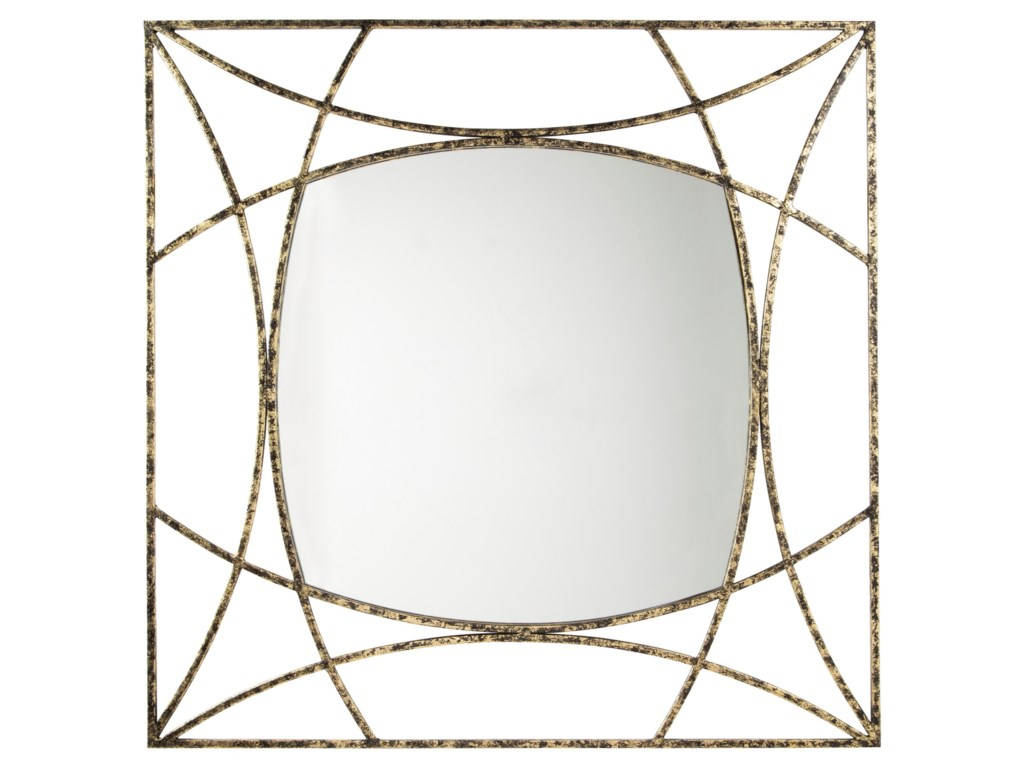 Vendor 3 Accent MirrorsKeita Black/Gold Finish Accent Mirror