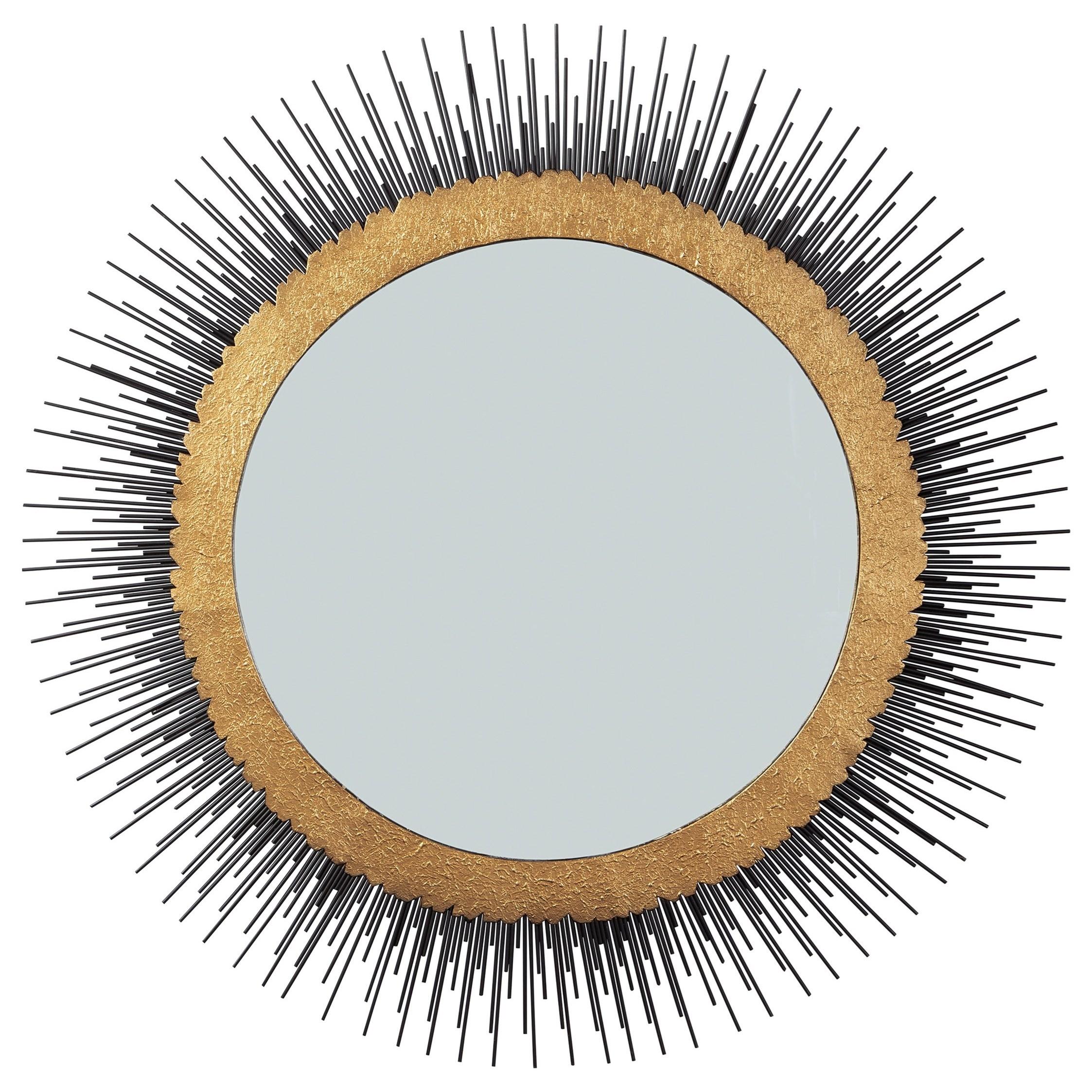 Elodie Black/Gold Finish Mirror