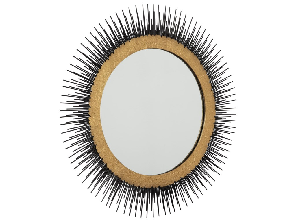 Signature Design by Ashley Accent MirrorsElodie Black/Gold Finish Mirror