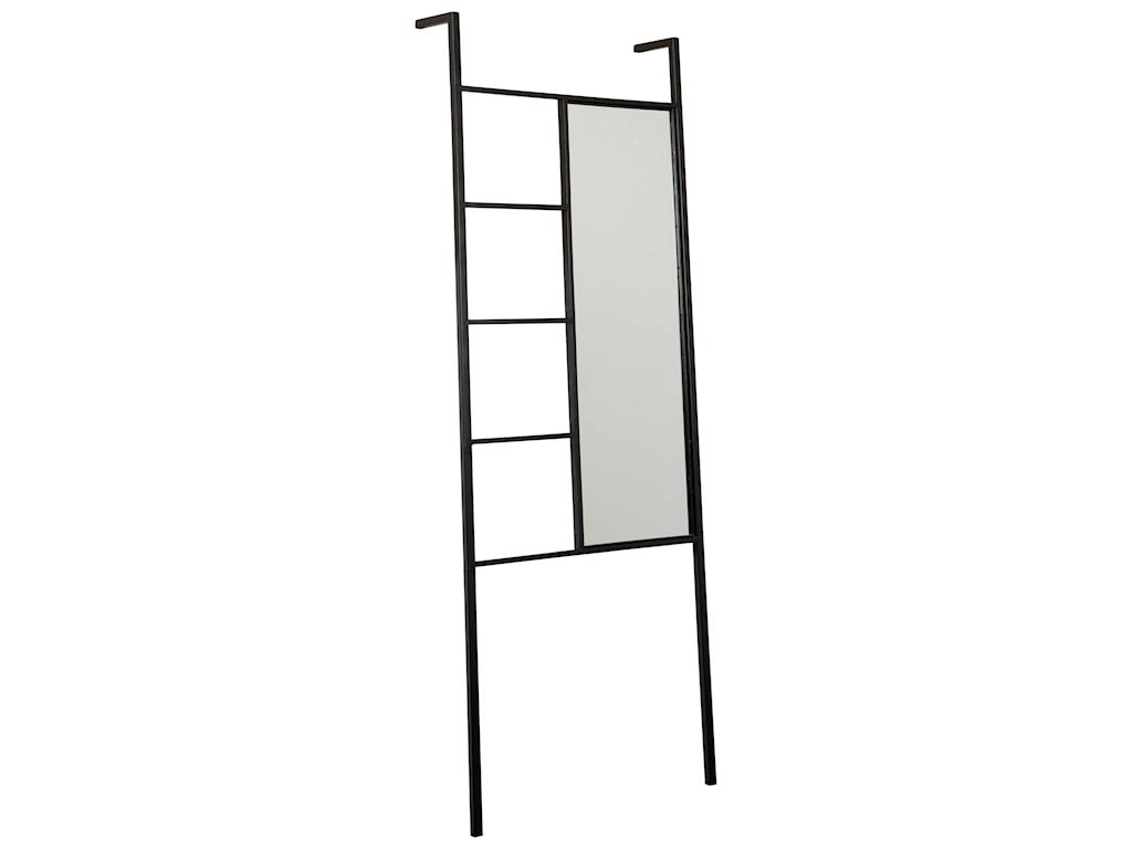 Signature Design Accent MirrorsDenice Black Floor Mirror